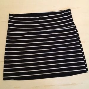 Rue 21 striped mini skirt Large